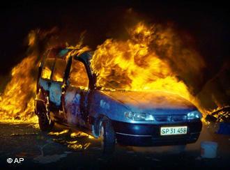 dänemark autobrand